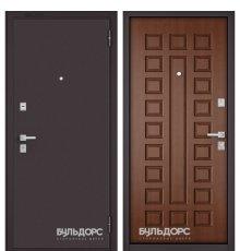 Дверь Бульдорс Mass-70 Букле шоколад/Дуб золотой М-110 фото