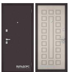 Дверь Бульдорс Mass-70 Букле шоколад/Ларче бьянко М-110 фото
