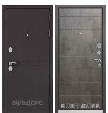 Дверь Бульдорс Mass-90 Букле шоколад R-4/Бетон темный 9S-135