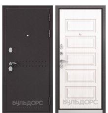 Дверь Бульдорс Mass-90 Букле шоколад R-4/Дуб светлый матовый 9S-108 фото