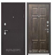Дверь Бульдорс Mass-90 Букле шоколад R-4/Дуб шале серебро 9S-109 фото