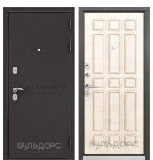 Дверь Бульдорс Mass-90 Букле шоколад R-4/Ларче бьянко 9S-111