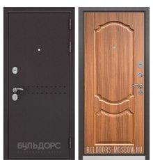 Дверь Бульдорс Mass-90 Букле шоколад R-4/Орех лесной 9SD-4