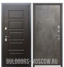 Дверь Бульдорс Mass-90 Ларче шоколад 9S-108/Бетон темный 9S-135