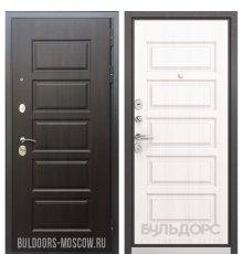 Дверь Бульдорс Mass-90 Ларче шоколад 9S-108/Дуб светлый матовый 9S-108