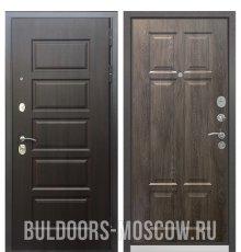 Дверь Бульдорс Mass-90 Ларче шоколад 9S-108/Дуб шале серебро 9S-109