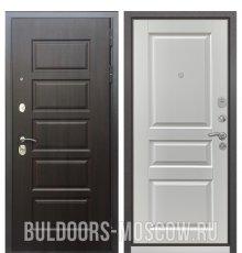 Дверь Бульдорс Mass-90 Ларче шоколад 9S-108/Ларче белый 9SD-2