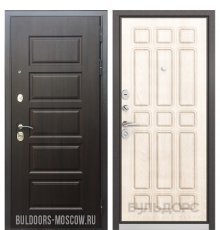 Дверь Бульдорс Mass-90 Ларче шоколад 9S-108/Ларче бьянко 9S-111