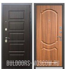 дверь Бульдорс Mass-90 Ларче шоколад 9S-108/Орех лесной 9SD-4