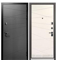 Дверь Бульдорс PREMIUM-90 Графит софт 9Р-130/Белый софт 9P-130