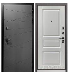 Дверь Бульдорс PREMIUM-90 Графит софт 9Р-130/Дуб белый матовый 9PD-2