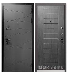 Дверь Бульдорс PREMIUM-90 Графит софт 9Р-130/Дуб серый 9P-137