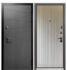 Дверь Бульдорс PREMIUM-90 Графит софт 9Р-130/Ларче бьянко 9P-131