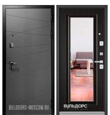 Дверь Бульдорс PREMIUM-90 Графит софт 9Р-130/Ларче темный 9P-140, mirror