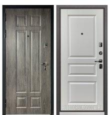 Дверь Бульдорс PREMIUM-90 Дуб шале серебро 9Р-115/Дуб белый матовый 9PD-2
