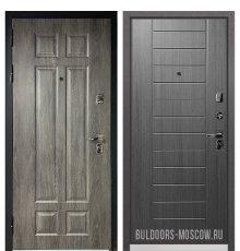 Дверь Бульдорс PREMIUM-90 Дуб шале серебро 9Р-115/Дуб серый 9P-137