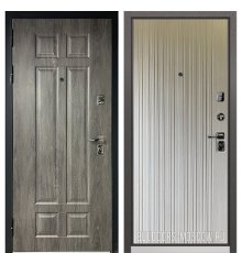 Дверь Бульдорс PREMIUM-90 Дуб шале серебро 9Р-115/Ларче бьянко 9P-131