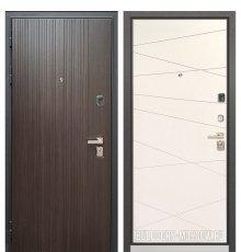 Дверь Бульдорс PREMIUM-90 Ларче темный 9Р-131/Белый софт 9P-130