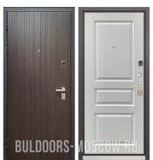 Дверь Бульдорс PREMIUM-90 Ларче темный 9Р-131/Дуб белый матовый 9PD-2
