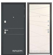 Дверь Бульдорс PREMIUM-90 Черный шелк D-14/Белый софт 9P-130