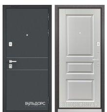 Дверь Бульдорс PREMIUM-90 Черный шелк D-14/Дуб белый матовый 9PD-2