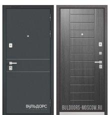 Дверь Бульдорс PREMIUM-90 Черный шелк D-14/Дуб серый 9P-137