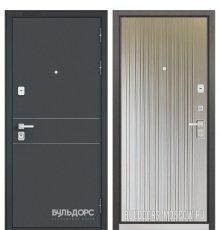 Дверь Бульдорс PREMIUM-90 Черный шелк D-14/Ларче бьянко 9P-131