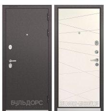 Дверь Бульдорс PREMIUM-90 Черный шелк/Белый софт 9P-130