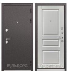 Дверь Бульдорс PREMIUM-90 Черный шелк/Дуб белый матовый 9PD-2