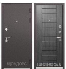 Дверь Бульдорс PREMIUM-90 Черный шелк/Дуб серый 9P-137