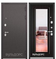 Дверь Бульдорс PREMIUM-90 Черный шелк/Ларче темный 9P-140, mirror