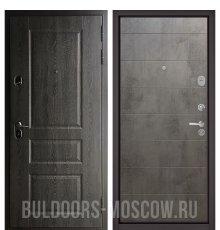 Дверь Бульдорс STANDART-90 Дуб графит 9SD-2/Бетон темный 9S-135