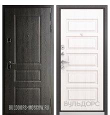 Дверь Бульдорс STANDART-90 Дуб графит 9SD-2/Дуб светлый матовый 9S-108