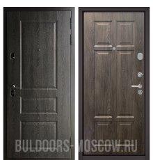 Дверь Бульдорс STANDART-90 Дуб графит 9SD-2/Дуб шале серебро 9S-109