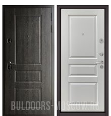 Дверь Бульдорс STANDART-90 Дуб графит 9SD-2/Ларче белый 9SD-2