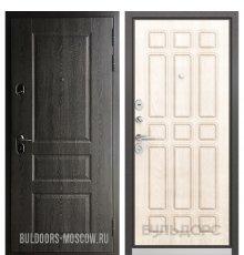Дверь Бульдорс STANDART-90 Дуб графит 9SD-2/Ларче бьянко 9S-111