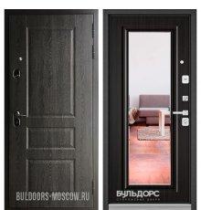 Дверь Бульдорс STANDART-90 Дуб графит 9SD-2/Ларче шоколад 9P-140, mirror