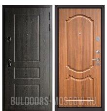 Дверь Бульдорс STANDART-90 Дуб графит 9SD-2/Орех лесной 9SD-4