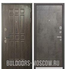 Дверь Бульдорс STANDART-90 Дуб Шоколад 9S-111/Бетон темный 9S-135
