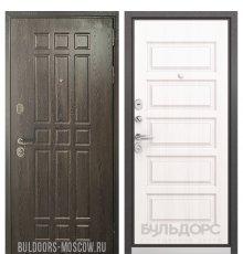 Дверь Бульдорс STANDART-90 Дуб Шоколад 9S-111/Дуб светлый матовый 9S-108