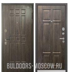 Дверь Бульдорс STANDART-90 Дуб Шоколад 9S-111/Дуб шале серебро 9S-109