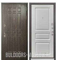 Дверь Бульдорс STANDART-90 Дуб Шоколад 9S-111/Ларче белый 9SD-2