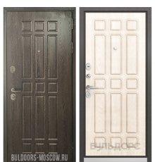 Дверь Бульдорс STANDART-90 Дуб Шоколад 9S-111/Ларче бьянко 9S-111