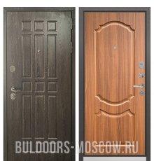 Дверь Бульдорс STANDART-90 Дуб Шоколад 9S-111/Орех лесной 9SD-4
