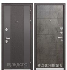 Дверь Бульдорс STANDART-90 Черный шелк 9К-4/Бетон темный 9S-135