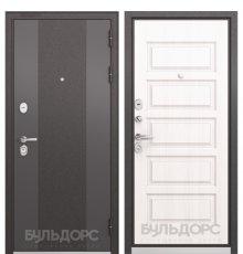 Дверь Бульдорс STANDART-90 Черный шелк 9К-4/Дуб светлый матовый 9S-108