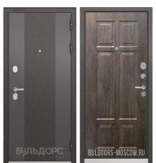Дверь Бульдорс STANDART-90 Черный шелк 9К-4/Дуб шале серебро 9S-109