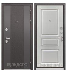 Дверь Бульдорс STANDART-90 Черный шелк 9К-4/Ларче белый 9SD-2