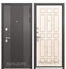 Дверь Бульдорс STANDART-90 Черный шелк 9К-4/Ларче бьянко 9S-111