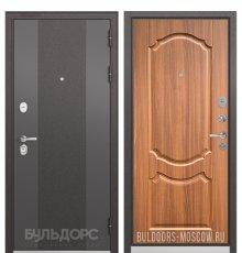 Дверь Бульдорс STANDART-90 Черный шелк 9К-4/Орех лесной 9SD-4